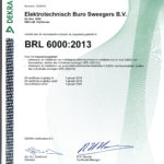 Certificaat BRL 6000 2013